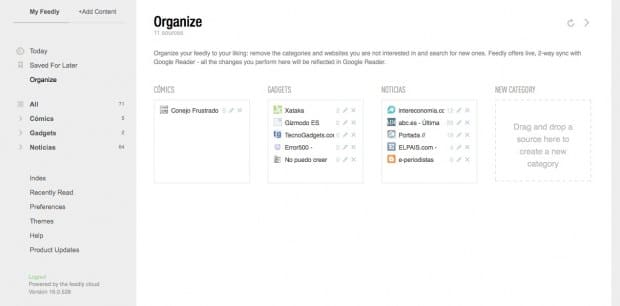 Latest news: ¡Usa Freedly  y organiza el contenido!
