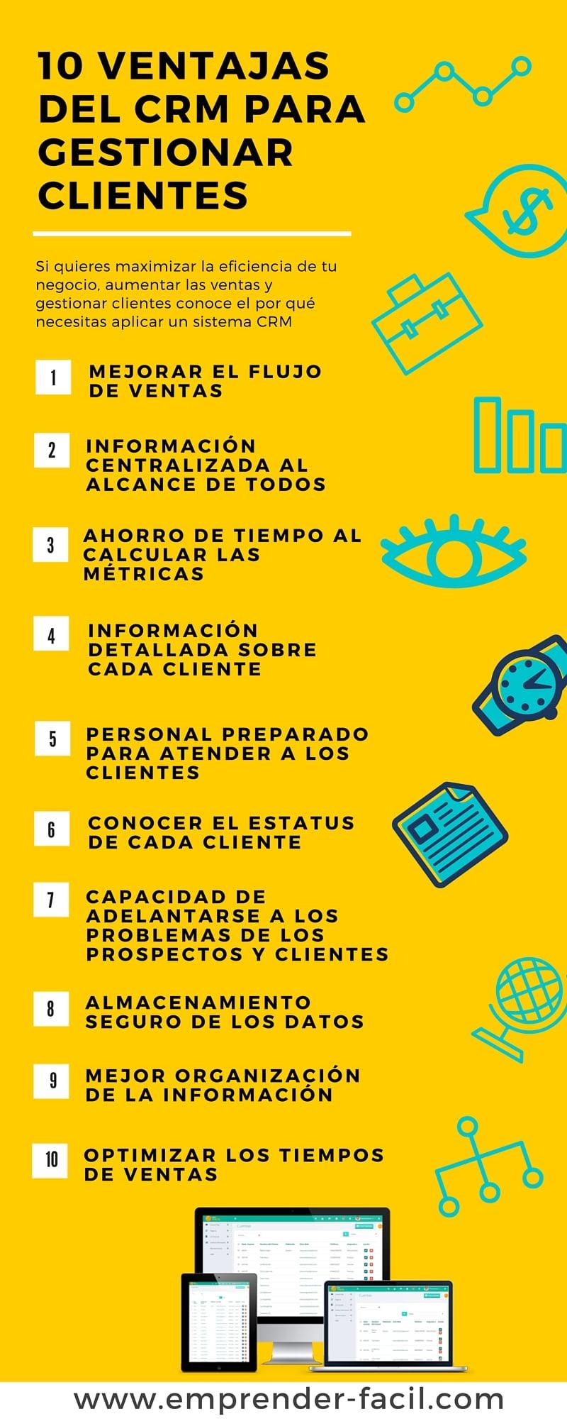 10 ventajas del CRM para gestionar clientes
