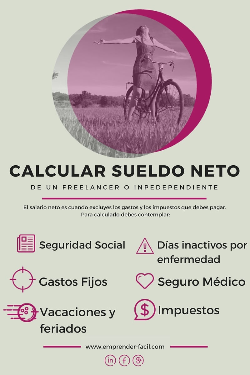 Calcular sueldo neto para un freelancer e independiente